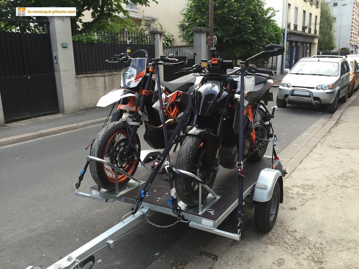 La remorque porte motos photos - Remorque porte moto chargement facile ...